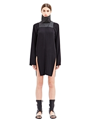 New Season Rick Owens Womens Abito Chalice High Collared Dress