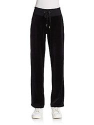 Calvin Klein Velour Trackpants Black