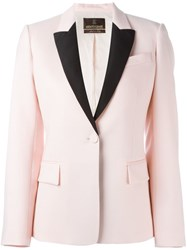 Roberto Cavalli Contrasting Lapel Blazer Pink And Purple