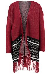 Ltb Wahita Cardigan Red Black Dark Red