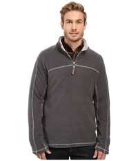 True Grit Outback Fleece 1 4 Zip Pullover Haley Men's Fleece Gray