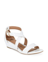 Sofft Innis Leather Sandals White