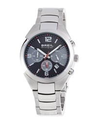 Breil Milano Stainless Steel Chronograph Watch Black