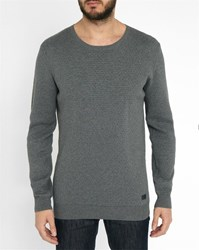 Minimum Grey Hawker Honeycomb Round Neck Sweater