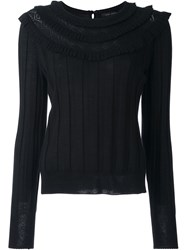 Marc Jacobs Pointelle Knit Jumper Black