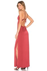 Capulet Deep V Maxi Dress Burgundy