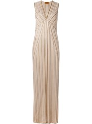 Missoni Pleated Gown Nude And Neutrals