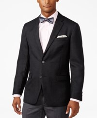 Tommy Hilfiger Men's Classic Fit Dot Pattern Sport Coat Black