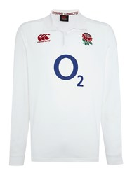 Canterbury Of New Zealand England Home Classic Ls Rugby White