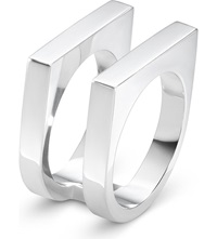 Georg Jensen Aria Sterling Silver Two Row Ring