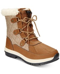 Bearpaw Women's Bethany Lace Up Waterproof Cold Weather Booties Women's Shoes Tan