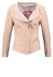 Freaky Nation Breeze Leather Jacket Peach Nude