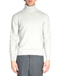 Ami Alexandre Mattiussi Wool Turtleneck Sweater Light Gray