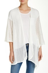 14Th And Union Open Front Boxy Cardigan White