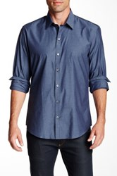 Zachary Prell Lary Long Sleeve Trim Fit Shirt Blue