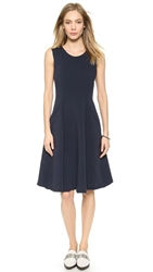Harvey Faircloth Unfinished Sleeveless Dress Navy
