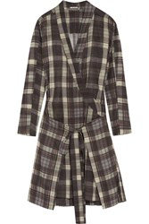 Etoile Isabel Marant Vanessa Checked Cotton Dress Gray