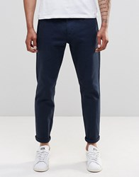 Ymc Tapered Fit Trousers Navy