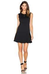 Bobi Light Weight Cashmere Terry Fit And Flare Dress Black