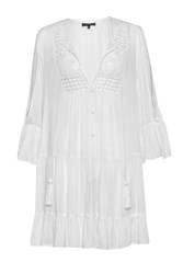 French Connection Castaway Lace Gypsy Tunic Dress White