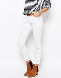 Esprit High Waisted Skinny Jeans White