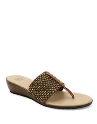 Andre Assous Nima Woven Demi Wedge Sandals Gold