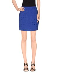 American Retro Skirts Mini Skirts Women Blue