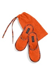 Etro Roubert Slippers And Pouch Red Orange