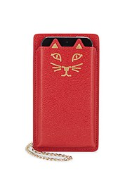 Charlotte Olympia Feline Iphone 5 Leather Case Red