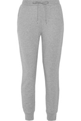 Alexander Wang T By Cotton Blend Track Pants Gray