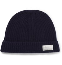 Visvim Ribbed Wool Beanie Hat Blue