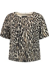 By Malene Birger Minas Leopard Print Jacquard Top Nude