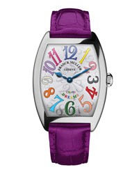 Ladies Color Dreams Curvex Watch With Alligator Strap Franck Muller Silver