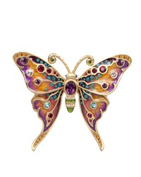 Arlyn Grand Butterfly Pin Jay Strongwater Multi Colors