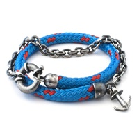 Anchor And Crew All Blue Barmouth Rope Bracelet