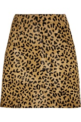 Mcq By Alexander Mcqueen Leopard Print Calf Hair Mini Skirt