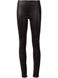 Lanvin Side Zip Leather Legging Black