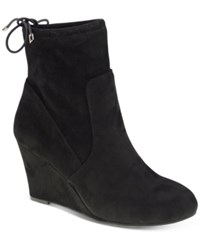 Chinese Laundry Unnie Wedge Booties Women's Shoes Black
