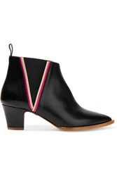 Rupert Sanderson Leather Ankle Boots Black