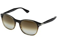 Persol 0Po3150s Brown Striped Clear Gradient Brown