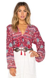 Spell And The Gypsy Collective Folk Town Blouse Red