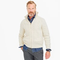 J.Crew American Wool Full Zip Sweater With Imperial Yarn