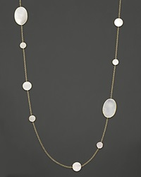 Ippolita 18K Yellow Gold Polished Rock Candy Circle Oval Station Necklace In Mother Of Pearl 37