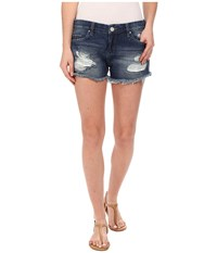 Blank Nyc Denim Ripped Cut Off Shorts In String Dance String Dance Women's Shorts Blue