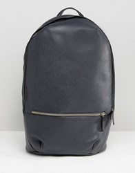 Royal Republiq Leather Encore Backpack Navy