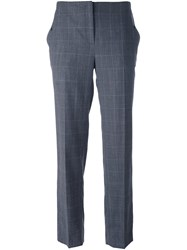 Salvatore Ferragamo Cropped Trousers Grey