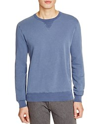 Todd Snyder Elbow Patch Crewneck Sweatshirt Blue Slate
