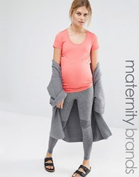 Mama Licious Mamalicious Lounge Leggings Grey