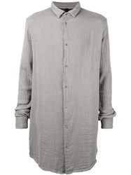Poeme Bohemien Pleated Long Shirt Grey