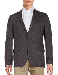 Calvin Klein Two Button Cross Hatch Knit Blazer Cavern Rock
